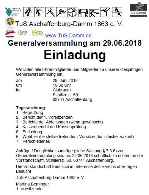 Generalversammlung TuS